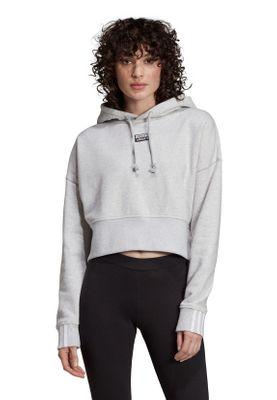 Adidas Originals Hoody Damen VOCAL CROP HOOD EJ8538 Grau – Bild 2