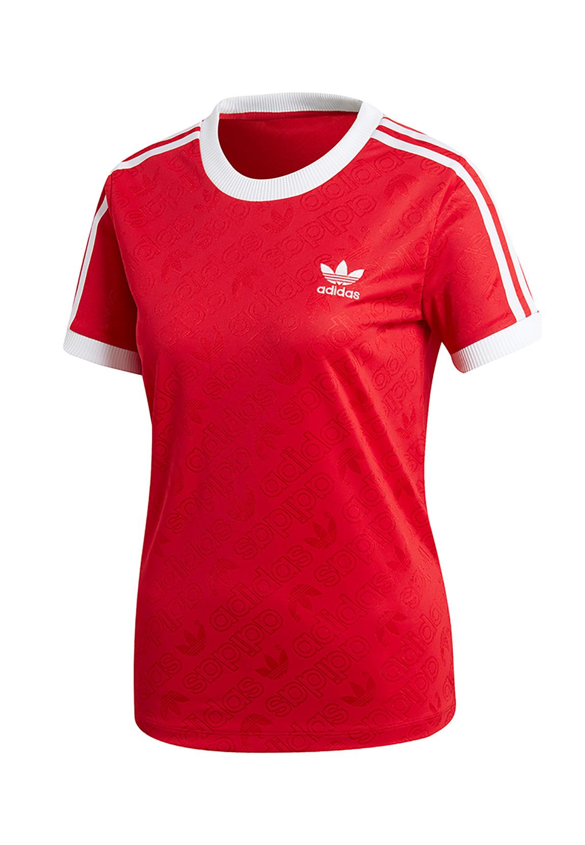 Details zu Adidas Originals T Shirt Damen 3 STR TEE ED7488 Rot