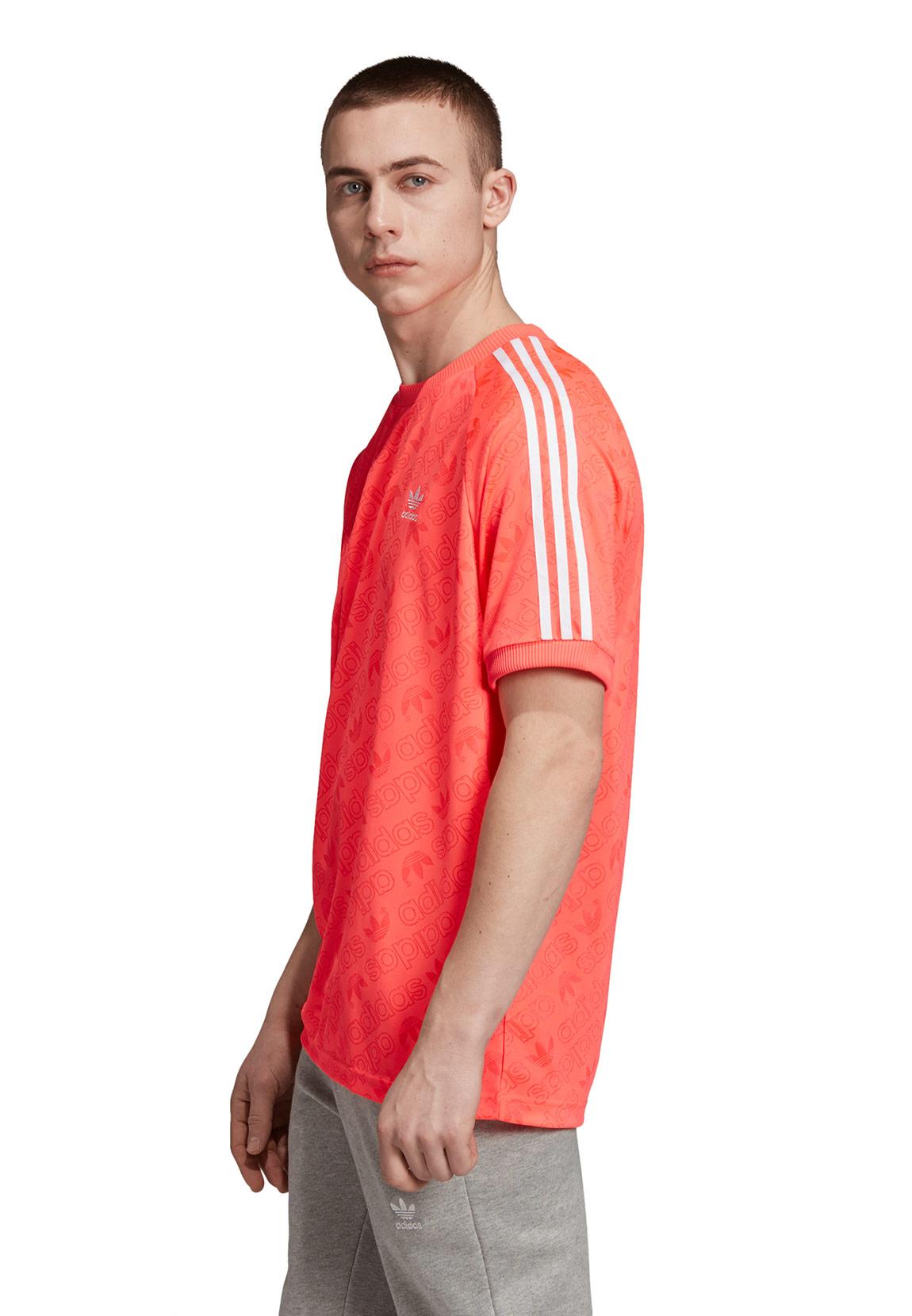 Adidas Originals T Shirt Herren MONO JERSEY ED7039 Rot Lachs