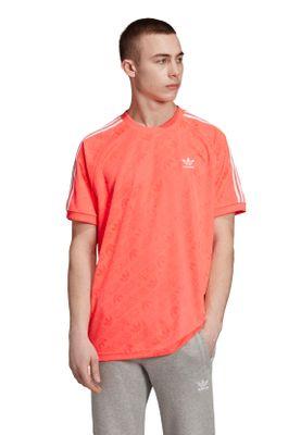 Adidas Originals T-Shirt Herren MONO JERSEY ED7039 Rot Lachs – Bild 2
