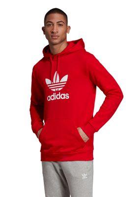 Adidas Originals Herren Sweater TREFOIL HOODIE EJ6980 Rot – Bild 2