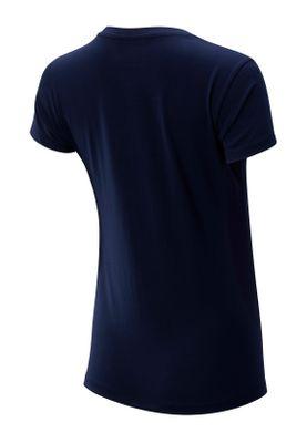 New Balance T-Shirt Damen NB ATH ARV STCKD WT93590 PGM Dunkelblau – Bild 1