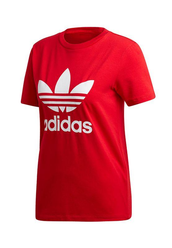Adidas Originals T-Shirt Damen TREFOIL TEE ED7493 Rot – Bild 0