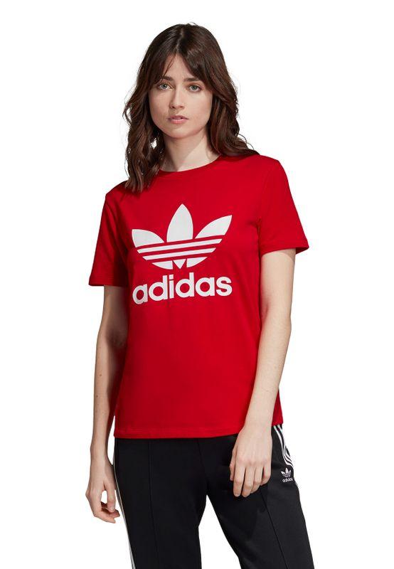 Adidas Originals T-Shirt Damen TREFOIL TEE ED7493 Rot – Bild 2