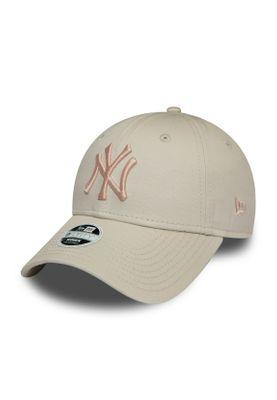 New Era League Essential 9Forty Adjustable Cap NY YANKEES Grau Rosa – Bild 0