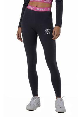 SikSilk Leggings Damen ELASTIC WAIST LEGGINGS SSW-1076 Nine Iron – Bild 0
