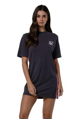 SikSilk Kleid Damen TAPE SIDE T-SHIRT DRESS SSW-1218 Nine Iron – Bild 0