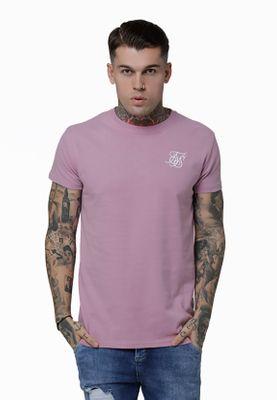 SikSilk T-Shirt Herren S/S PEACHED BOX TEE SS-15157 Dusty Pink – Bild 0