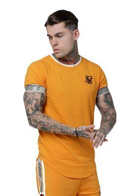 SikSilk T-Shirt Herren RUNNER CUFF GYM TEE SS-14916 Yellow – Bild 1
