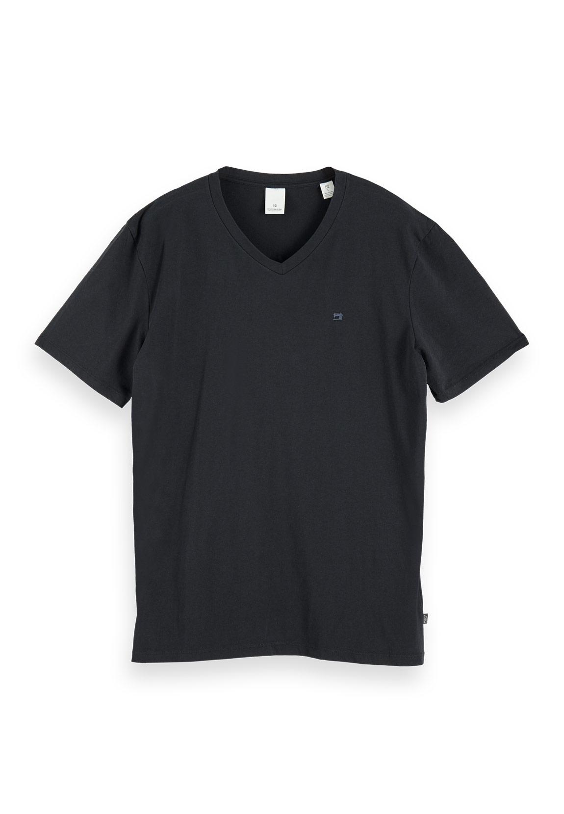 Scotch /& Soda T-Shirt Herren NOS COTTON ELASTANE V-NECK TEE 155896 Schwarz 90