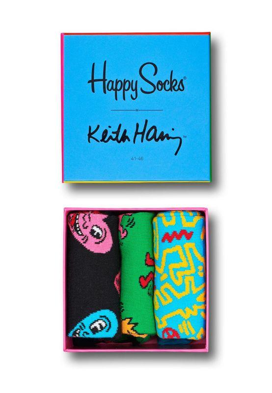 Happy Socks Geschenkbox KEITH HARING GIFT BOX XKEH08-0100 Mehrfarbig Ansicht