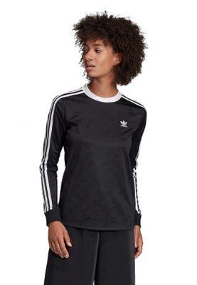 Adidas Originals Longsleeve Damen 3 STR LS TEE ED7481 Schwarz – Bild 2