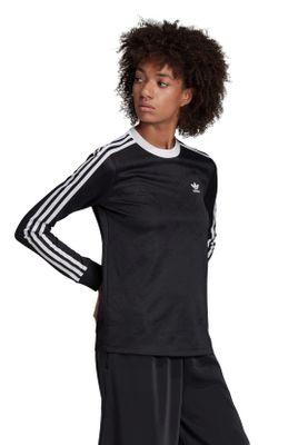 Adidas Originals Longsleeve Damen 3 STR LS TEE ED7481 Schwarz – Bild 3