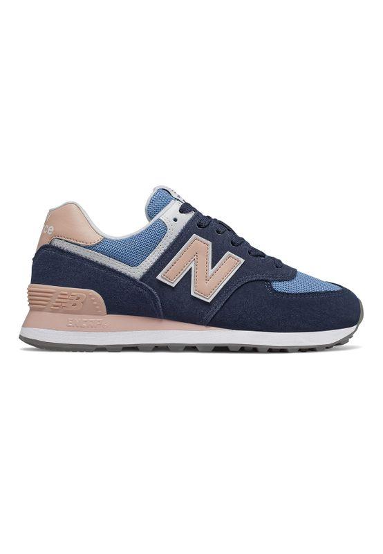 New Balance Sneaker Damen WL574WND Mehrfarbig Navy Pink Ansicht
