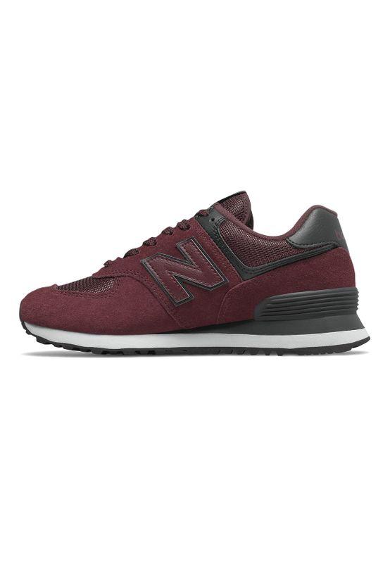 New Balance Sneaker Damen WL574WNR Bordeaux Red Black – Bild 1