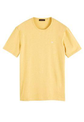 Scotch & Soda Herren T-Shirt CLASSIC CREWNECK TEE 152274 Gelb 3212