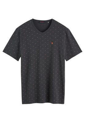Scotch & Soda Herren T-Shirt ELASTANE V-NECK TEE 152275 Schwarz 0221