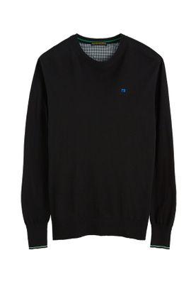 Scotch & Soda Herren Pullover CLASSIC CREWNECK 152351 Black 0008 Schwarz