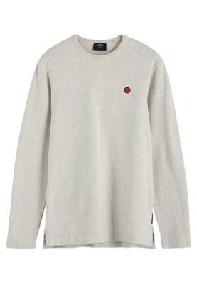 Scotch & Soda Herren Sweater CLEAN LONGSLEEVE 152258 Combo A 1161 Grau meliert