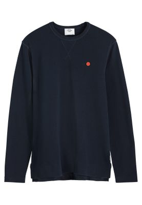 Scotch & Soda Herren Sweater CLEAN LONGSLEEVE 152258 Midnight 0093 Dunkelblau