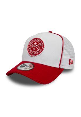 New Era Trucker Cap Boston Red Sox WORLD SERIES PATCH Weiß Rot – Bild 0