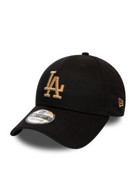 New Era League Essential 39Thirty Cap LA DODGERS Schwarz Gold – Bild 0