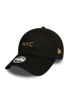 New Era NYC Damen 9Forty Adjustable Cap NYC Schwarz Gold – Bild 0