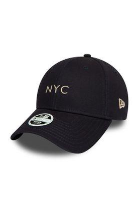 New Era NYC Damen 9Forty Adjustable Cap NYC Dunkelblau Silber – Bild 0