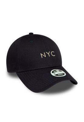 New Era NYC Damen 9Forty Adjustable Cap NYC Dunkelblau Silber – Bild 2