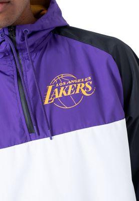 New Era NBA Hooded Windbreaker Herren LA LAKERS Weiß Lila – Bild 2