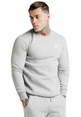 SikSilk Sweater Herren CREW SWEAT SS-16084 Grey Marl – Bild 1