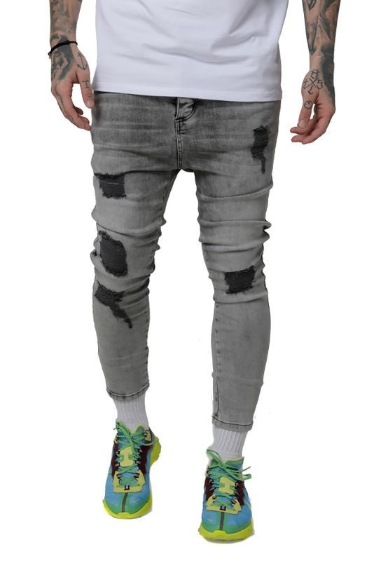SikSilk Jeans Herren DROP CROTCH ULTRA DENIMS SS-15287 Snow Wash Ansicht