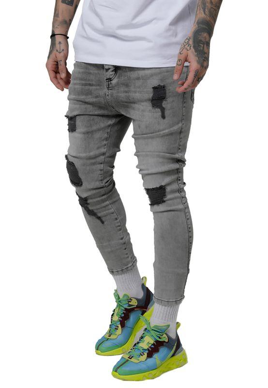 SikSilk Jeans Herren DROP CROTCH ULTRA DENIMS SS-15287 Snow Wash – Bild 1