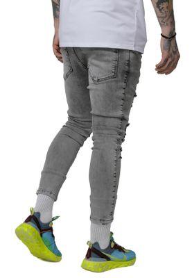 SikSilk Jeans Herren DROP CROTCH ULTRA DENIMS SS-15287 Snow Wash – Bild 2