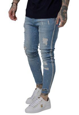 SikSilk Jeans Herren LOW RISE DENIMS SS-15288 Washed Blue – Bild 1