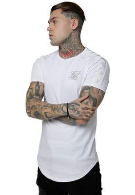 SikSilk T-Shirt Herren TAPE GYM TEE SS-15249 White – Bild 1