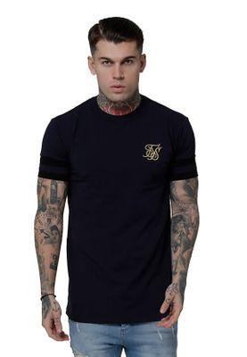 SikSilk T-Shirt Herren RESERVE COLLAR BOX TEE SS-15199 Navy – Bild 0