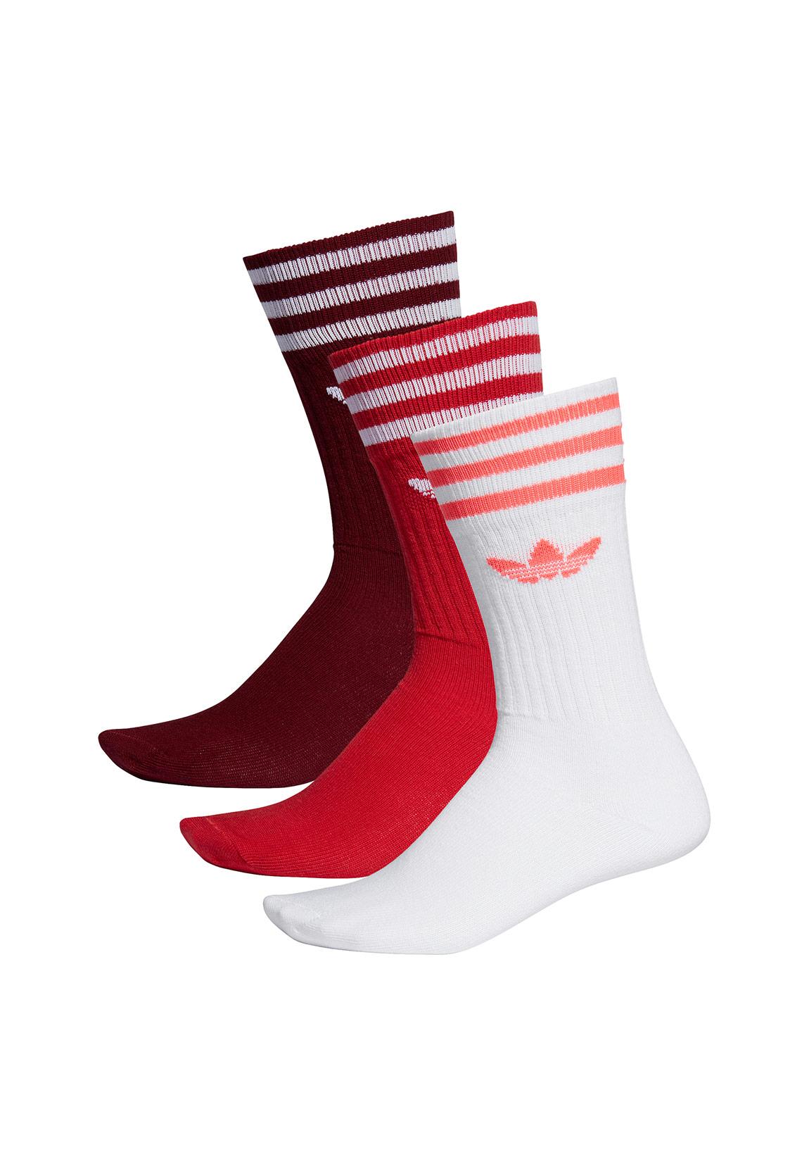 detailed images good service save up to 80% Adidas Originals Socken Dreierpack SOLID CREW ED9360 Weiß Rot