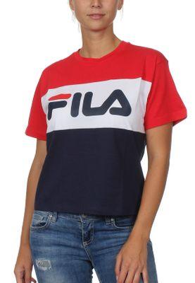 Fila T-Shirt Damen Allison TEE 682125 G06 Black Iris Bright White True Red – Bild 0