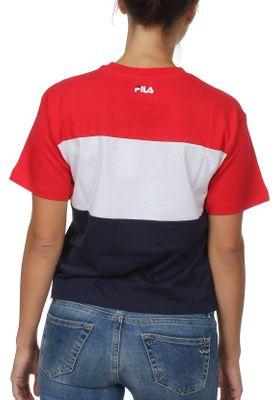 Fila T-Shirt Damen Allison TEE 682125 G06 Black Iris Bright White True Red – Bild 1