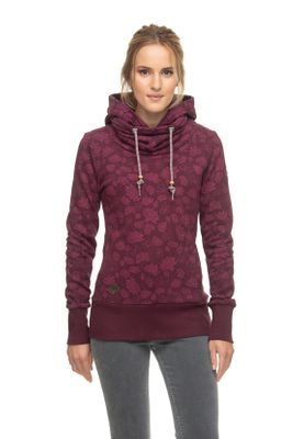 Ragwear Sweater Damen HOOKED 1921-30024 Dunkelrot Wine Red 4055