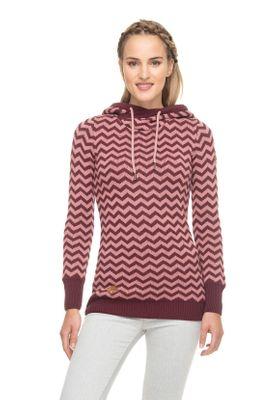 Ragwear Pullover Damen HEGE 1921-35004 Dunkelrot Wine Red 4055