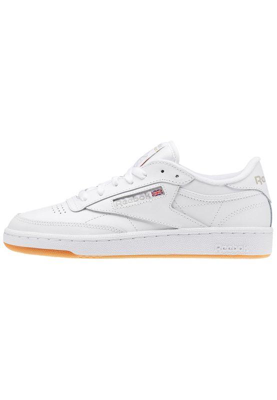 Reebok Sneaker CLUB C 85 BS7686 Weiß White Light Grey Gum – Bild 2