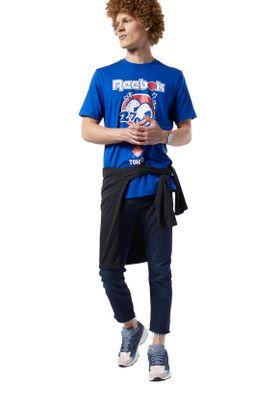 Reebok T-Shirt Herren CL ITL SUSHI TEE EA3573 Blau – Bild 2