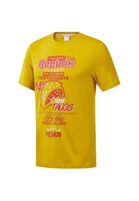 Reebok T-Shirt Herren CL ITL TACOS TEE EA3571 Gelb – Bild 0