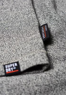 Superdry T-Shirt Herren SURPLUS GOODS LS Speckle Grit – Bild 2