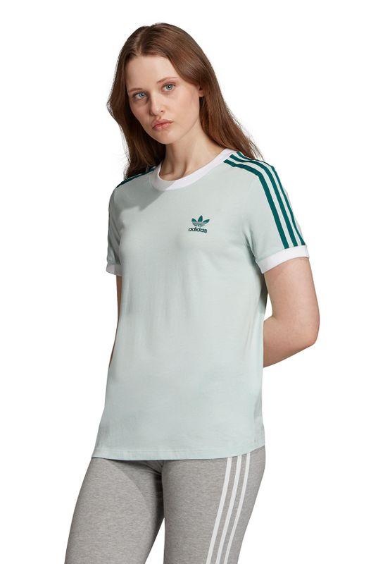 Adidas Originals T-Shirt Damen 3 STR TEE ED7485 Türkis – Bild 2
