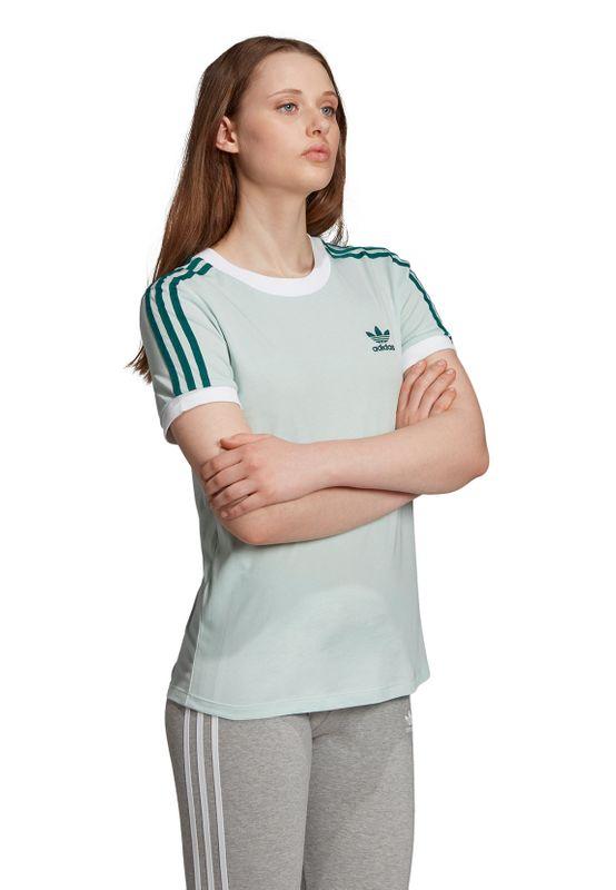Adidas Originals T-Shirt Damen 3 STR TEE ED7485 Türkis – Bild 3