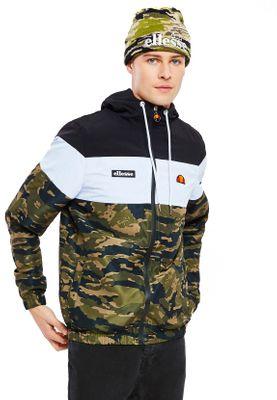 Ellesse Zipper Herren MATTAR TRACK TOP Schwarz Weiß Camouflage Camo – Bild 0