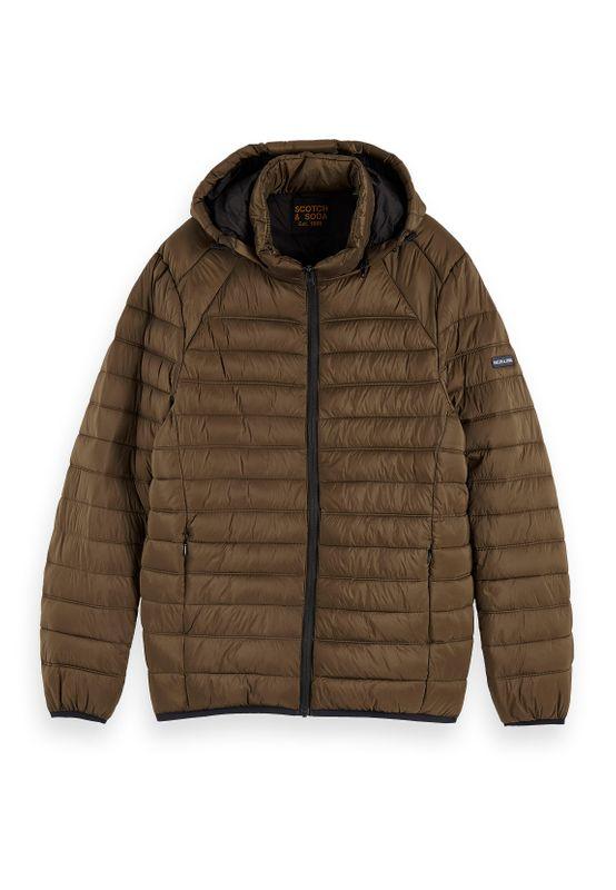 Scotch & Soda Jacket Men CLASSIC HOODED LIGHT WEIHT PADDED JACKET 152011 Khaki Military 0360 Ansicht